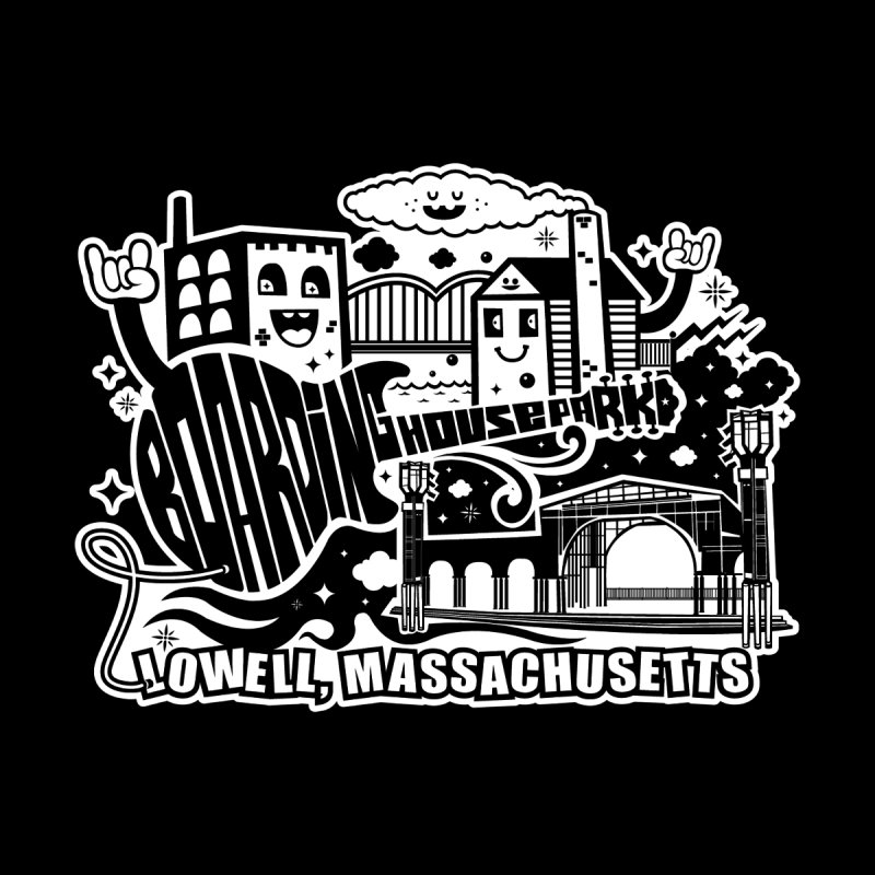 Toon City White Men's T-Shirt by lowellsummermusic's Artist Shop