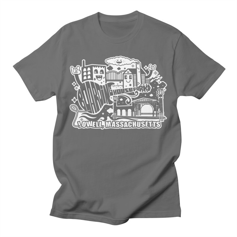 Toon City White Men's T-Shirt by lowellsummermusic's Artist Shop