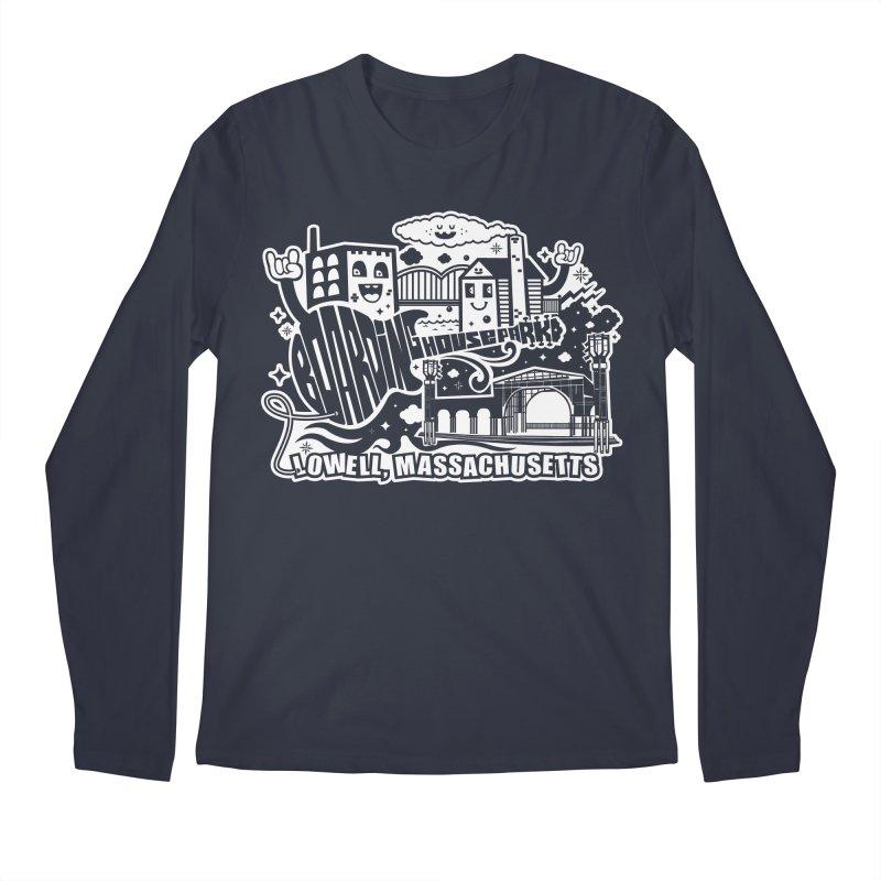 Toon City White Men's Longsleeve T-Shirt by lowellsummermusic's Artist Shop