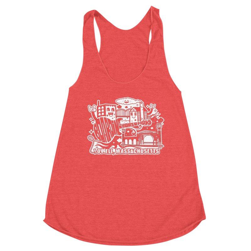 Toon City White Women's Tank by lowellsummermusic's Artist Shop