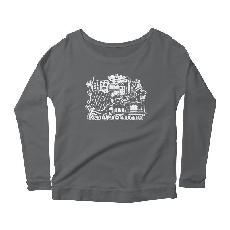 Toon City White Women's Longsleeve T-Shirt by lowellsummermusic's Artist Shop