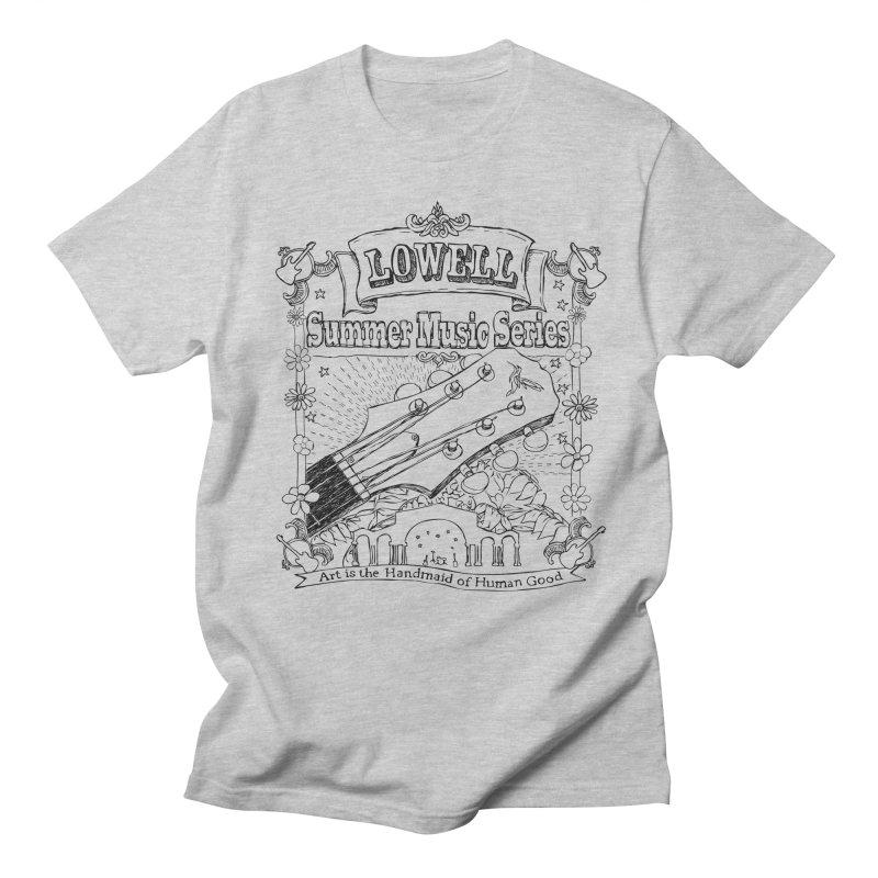 Rustic Black Men's T-Shirt by lowellsummermusic's Artist Shop