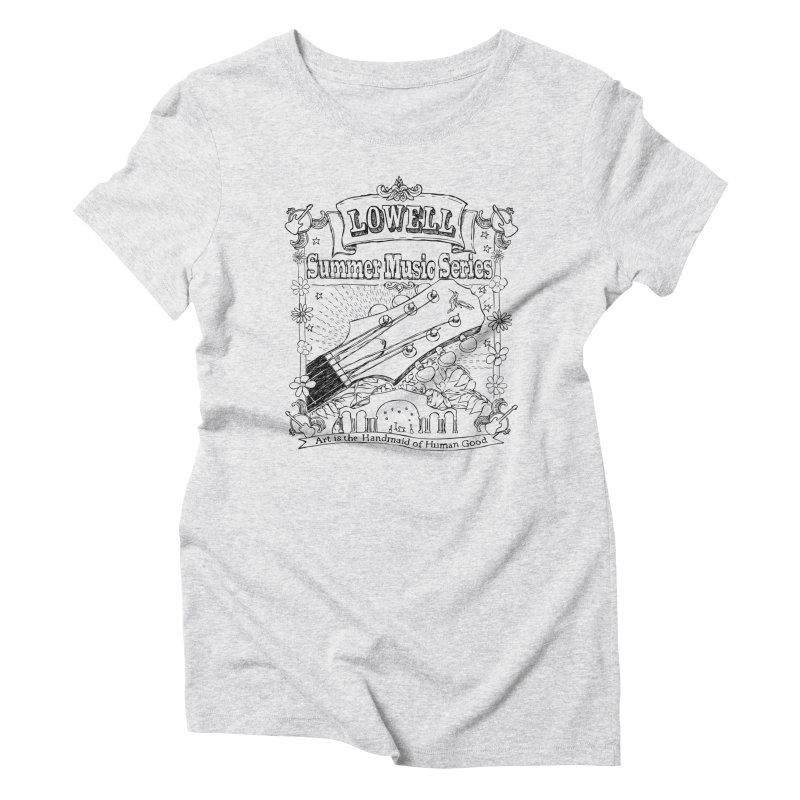 Rustic Black Women's T-Shirt by lowellsummermusic's Artist Shop
