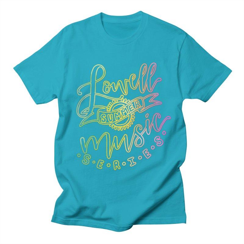 Script Glow Men's T-Shirt by lowellsummermusic's Artist Shop