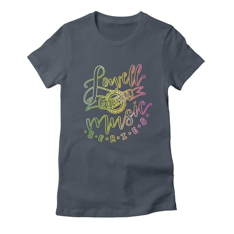 Script Glow Women's T-Shirt by lowellsummermusic's Artist Shop