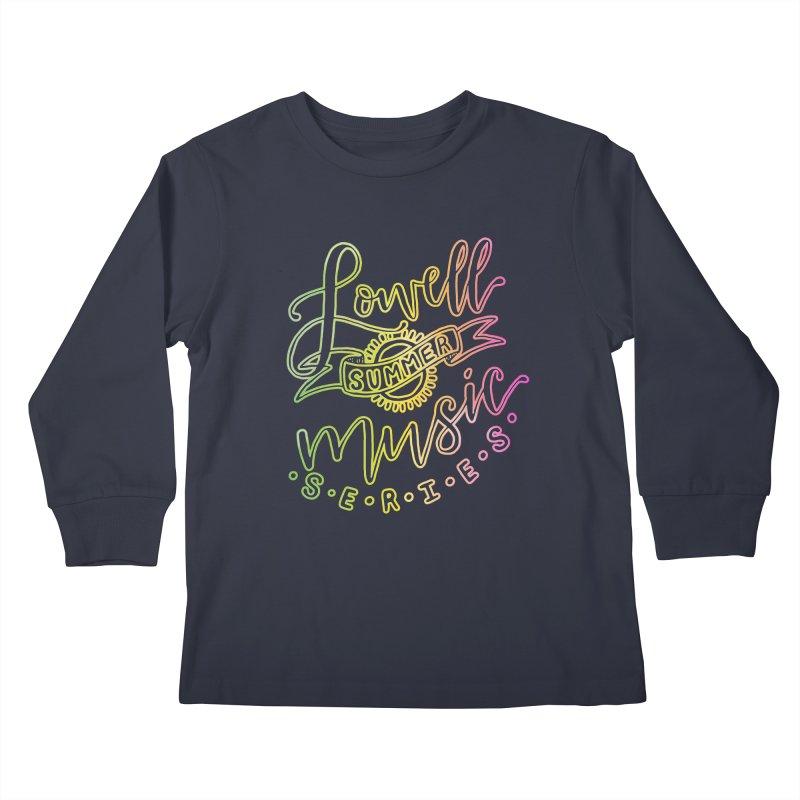 Script Glow Kids Longsleeve T-Shirt by lowellsummermusic's Artist Shop