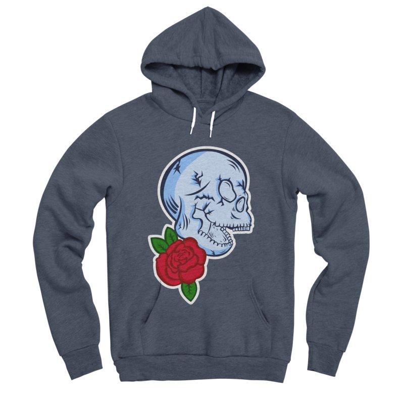 Skull Rose Men's Sponge Fleece Pullover Hoody by lowpolyart's Artist Shop