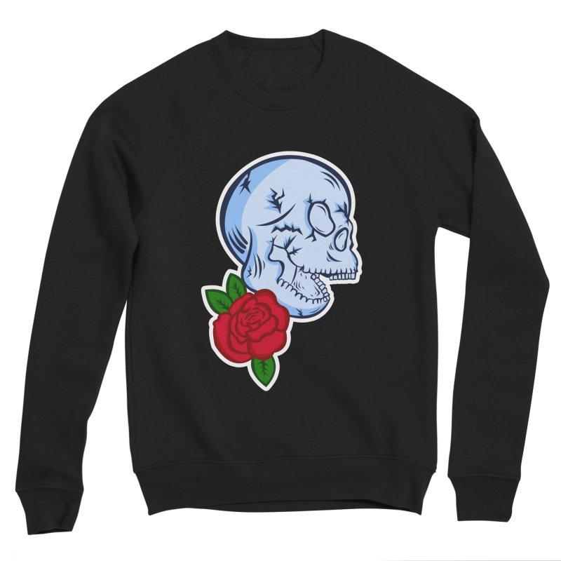 Skull Rose Men's Sponge Fleece Sweatshirt by lowpolyart's Artist Shop