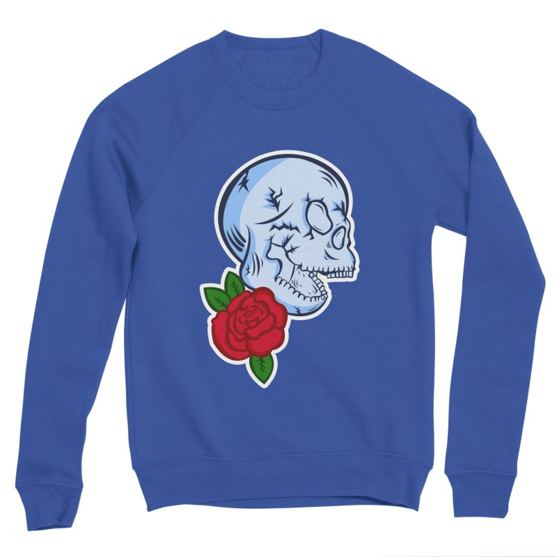 Skull Rose Men's Sponge Fleece Sweatshirt by lowpolyart's Artist Shop