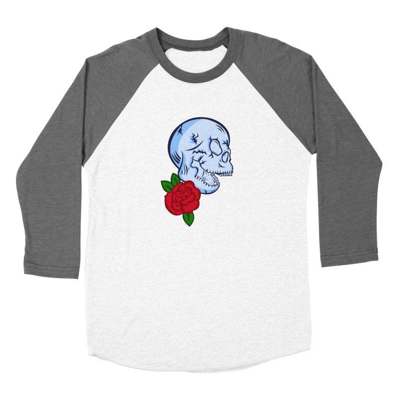 Skull Rose Women's Longsleeve T-Shirt by lowpolyart's Artist Shop
