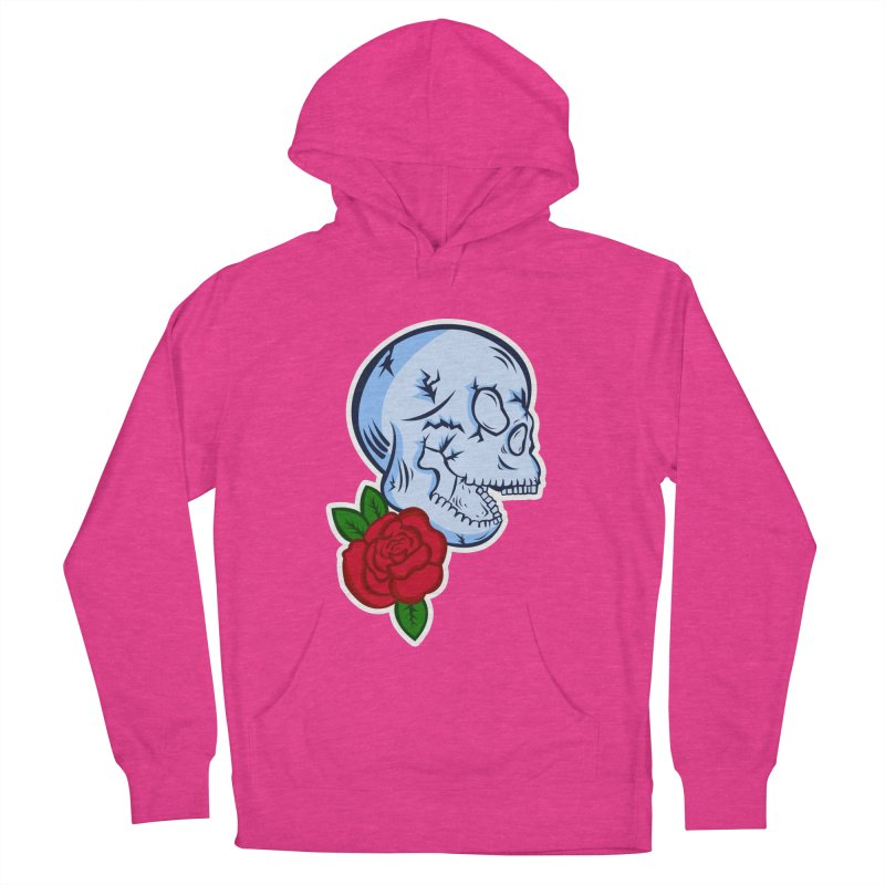 Skull Rose Men's French Terry Pullover Hoody by lowpolyart's Artist Shop