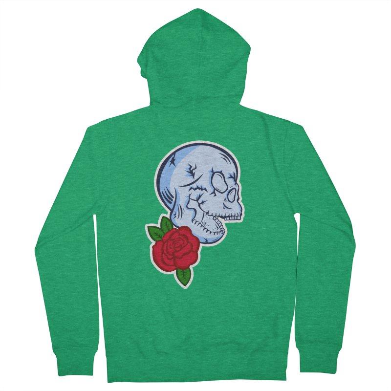 Skull Rose Women's Zip-Up Hoody by lowpolyart's Artist Shop