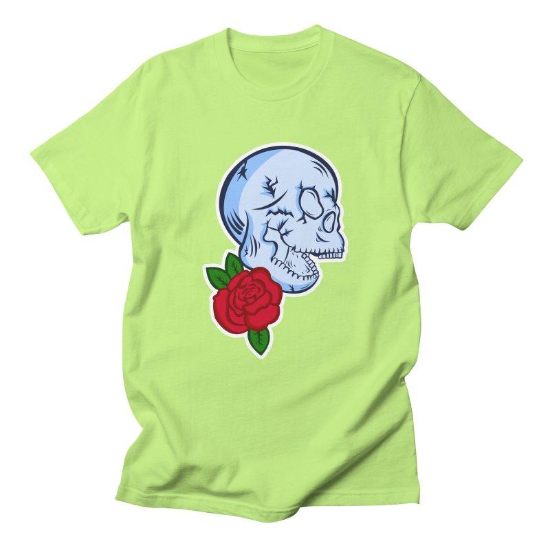 Skull Rose Women's Regular Unisex T-Shirt by lowpolyart's Artist Shop