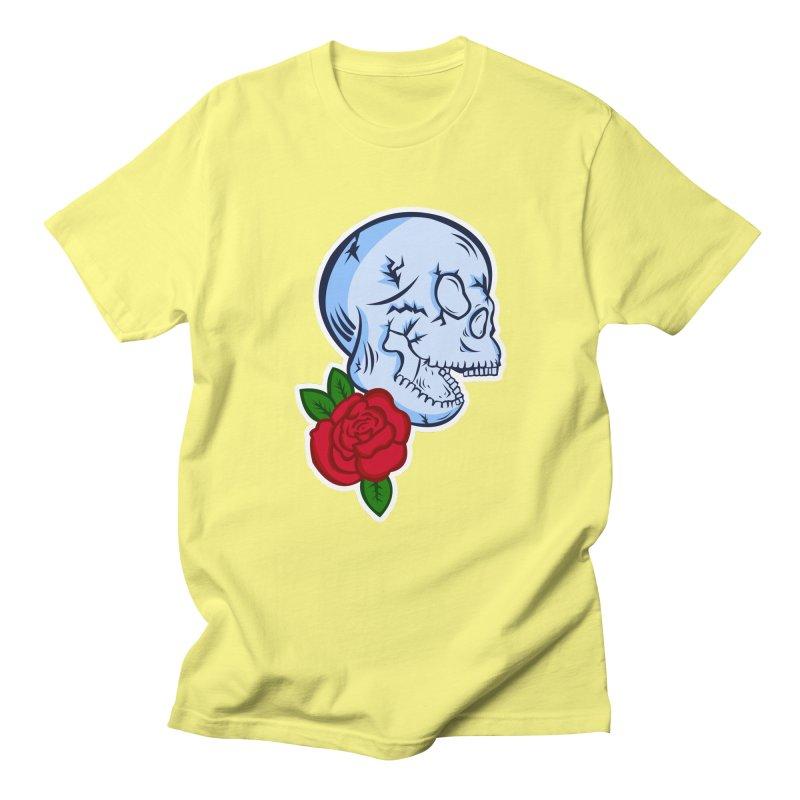 Skull Rose Men's Regular T-Shirt by lowpolyart's Artist Shop