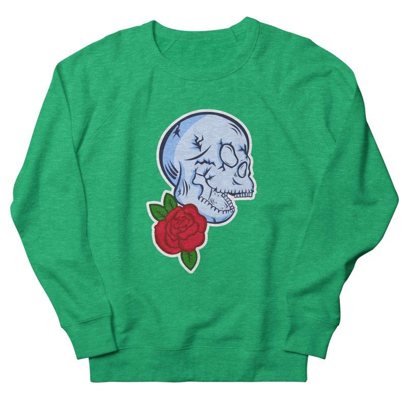 Skull Rose Men's French Terry Sweatshirt by lowpolyart's Artist Shop