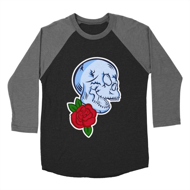 Skull Rose Women's Baseball Triblend Longsleeve T-Shirt by lowpolyart's Artist Shop