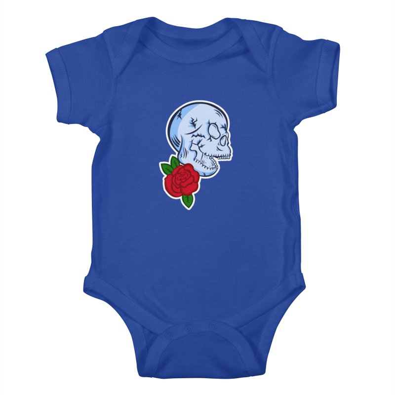 Skull Rose Kids Baby Bodysuit by lowpolyart's Artist Shop