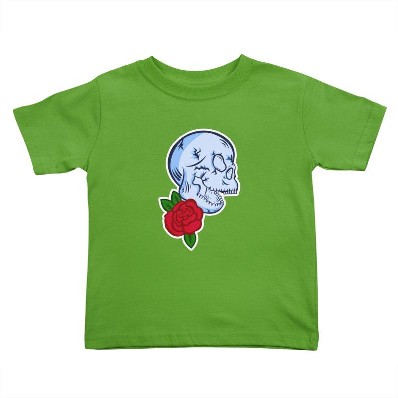 Skull Rose Kids Toddler T-Shirt by lowpolyart's Artist Shop