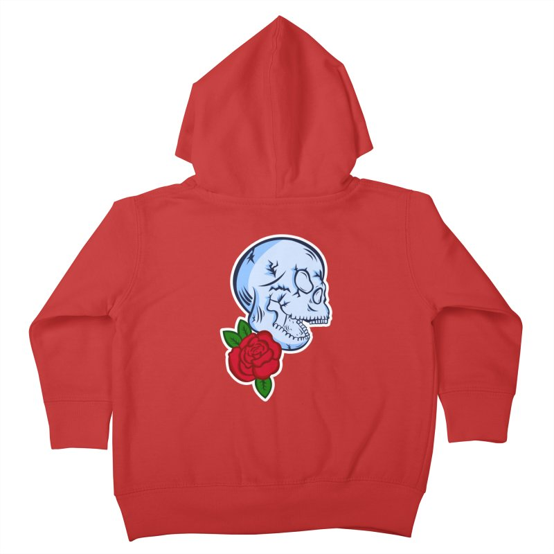 Skull Rose Kids Toddler Zip-Up Hoody by lowpolyart's Artist Shop