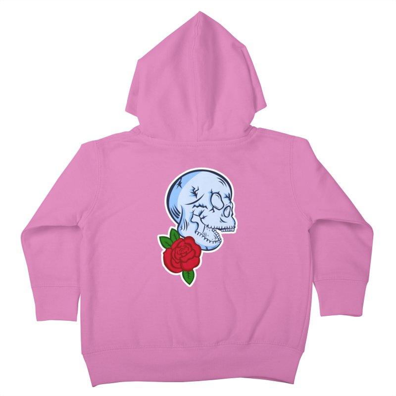 Skull Rose Kids Toddler Zip-Up Hoody by lowpolyart's Artist Shop