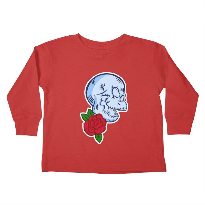 Skull Rose Kids Toddler Longsleeve T-Shirt by lowpolyart's Artist Shop