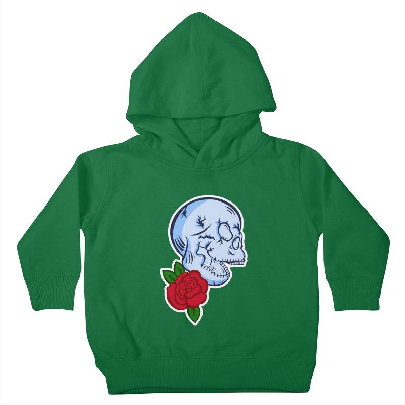 Skull Rose Kids Toddler Pullover Hoody by lowpolyart's Artist Shop