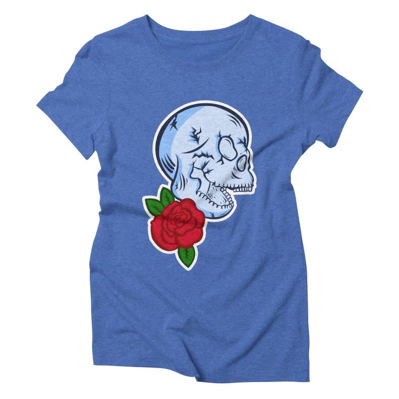 Skull Rose Women's Triblend T-Shirt by lowpolyart's Artist Shop