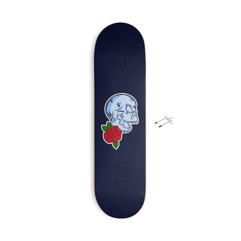 Skull Rose Accessories With Hanging Hardware Skateboard by lowpolyart's Artist Shop
