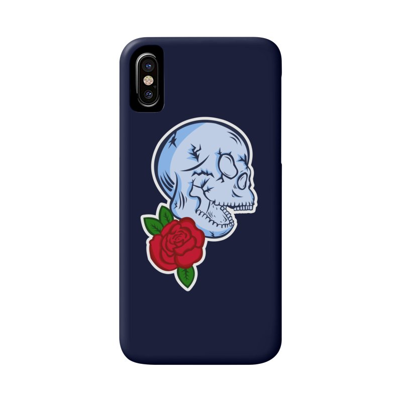 Skull Rose Accessories Phone Case by lowpolyart's Artist Shop