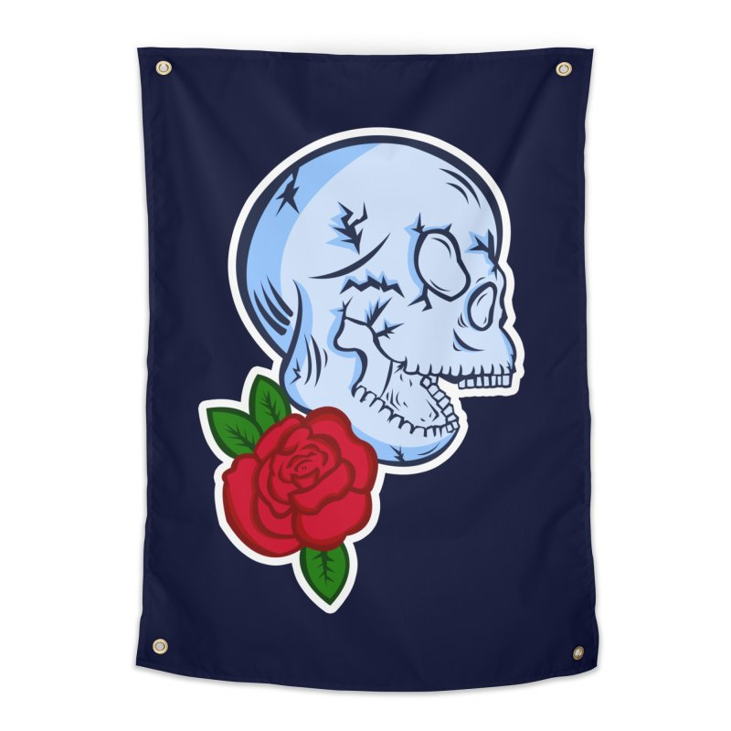 Skull Rose Home Tapestry by lowpolyart's Artist Shop