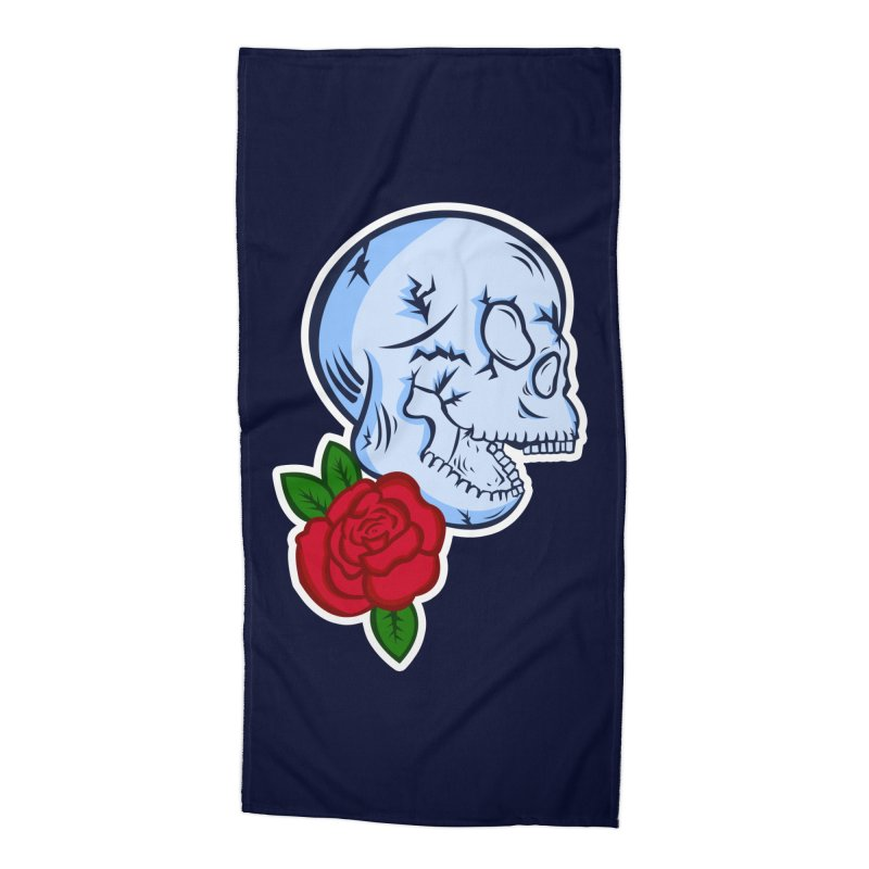 Skull Rose Accessories Beach Towel by lowpolyart's Artist Shop