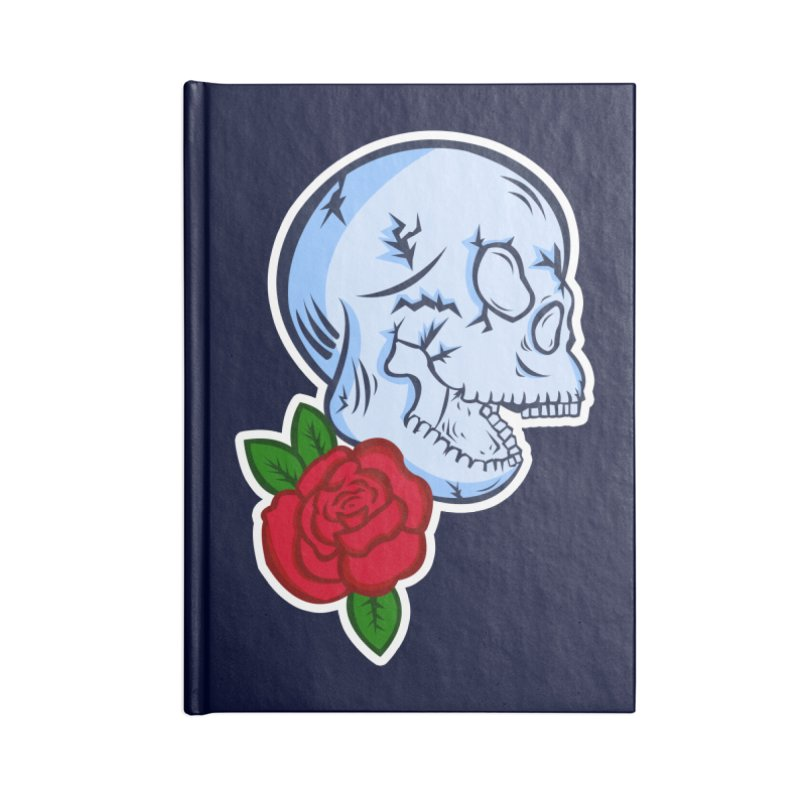 Skull Rose Accessories Lined Journal Notebook by lowpolyart's Artist Shop