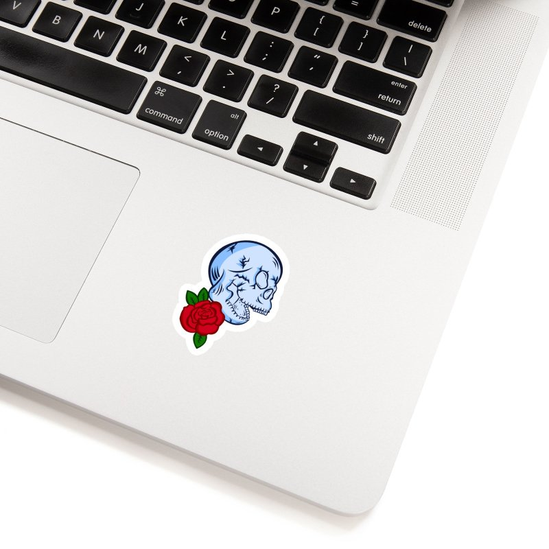 Skull Rose Accessories Sticker by lowpolyart's Artist Shop