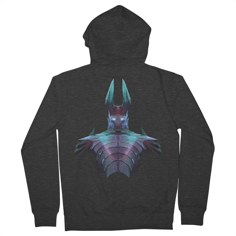 Low Poly Art - Tblade Women's French Terry Zip-Up Hoody by lowpolyart's Artist Shop