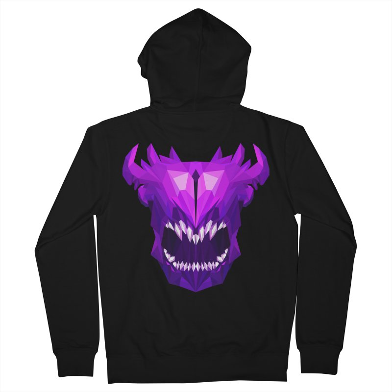 Low Poly Art - Bane Elemental Women's French Terry Zip-Up Hoody by lowpolyart's Artist Shop
