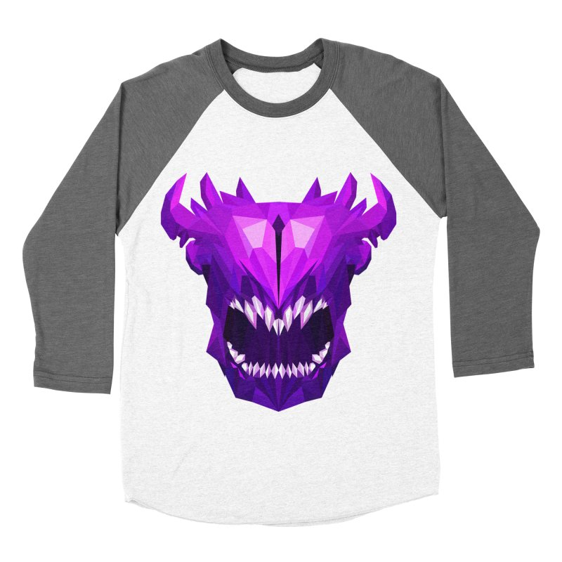 Low Poly Art - Bane Elemental Women's Baseball Triblend Longsleeve T-Shirt by lowpolyart's Artist Shop