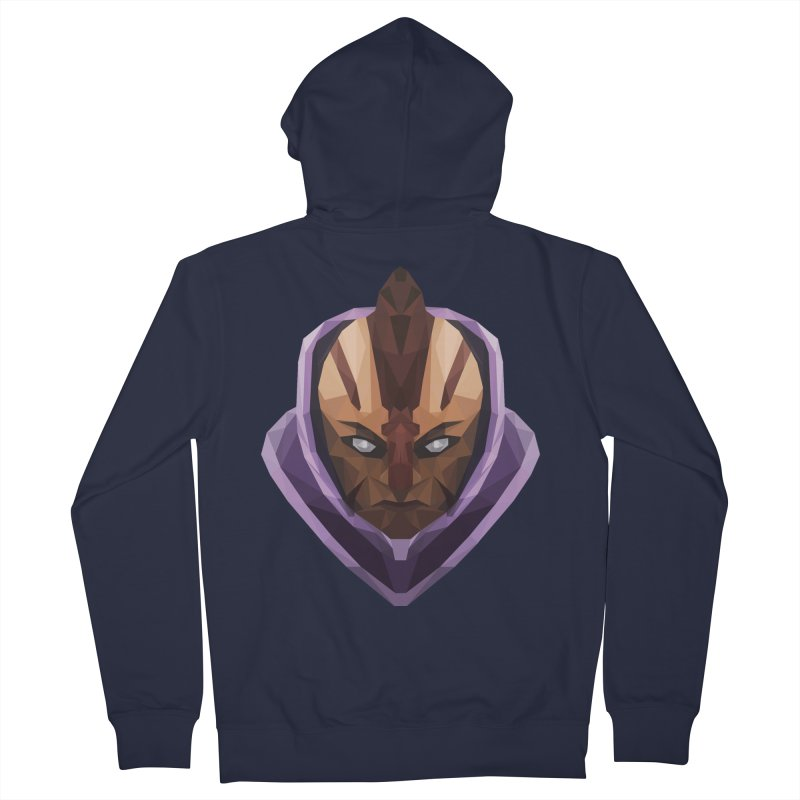Low Poly Art - Antimage Women's French Terry Zip-Up Hoody by lowpolyart's Artist Shop