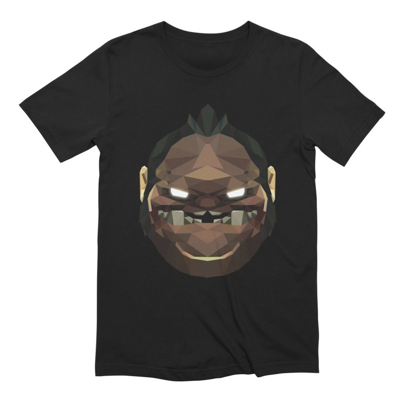 Low Poly Art - Pudge in Men's Extra Soft T-Shirt Black by lowpolyart's Artist Shop