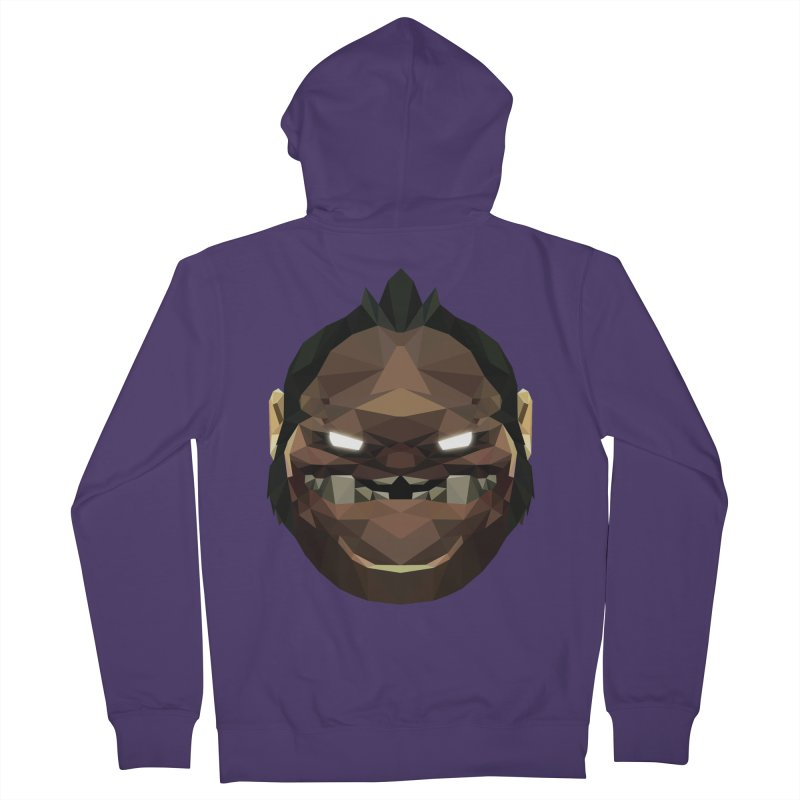 Low Poly Art - Pudge Women's French Terry Zip-Up Hoody by lowpolyart's Artist Shop