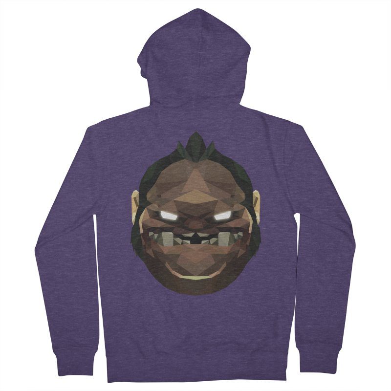 Low Poly Art - Pudge Men's French Terry Zip-Up Hoody by lowpolyart's Artist Shop