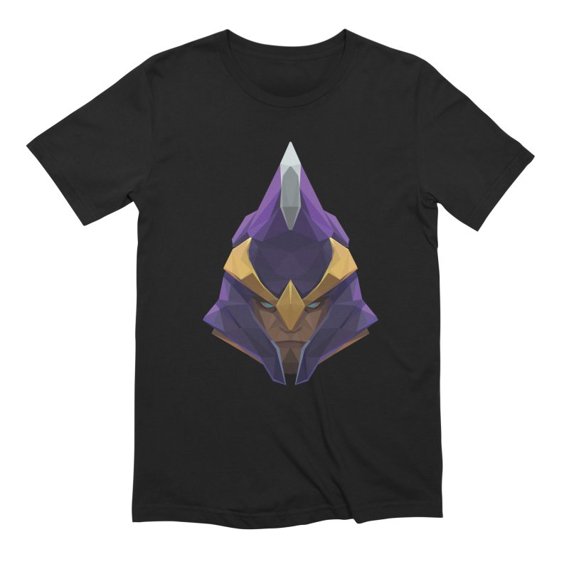 Low Poly Art - Silencer in Men's Extra Soft T-Shirt Black by lowpolyart's Artist Shop