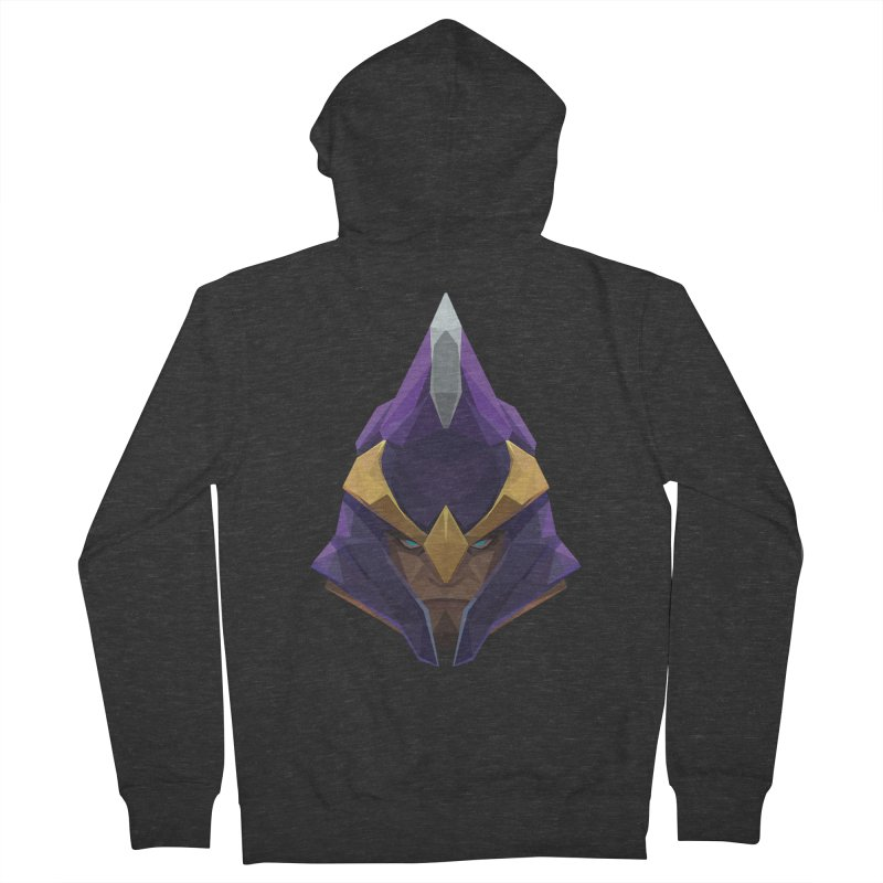 Low Poly Art - Silencer Women's French Terry Zip-Up Hoody by lowpolyart's Artist Shop