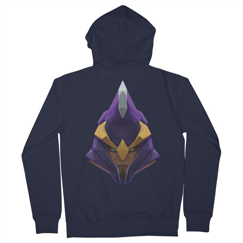 Low Poly Art - Silencer Men's French Terry Zip-Up Hoody by lowpolyart's Artist Shop