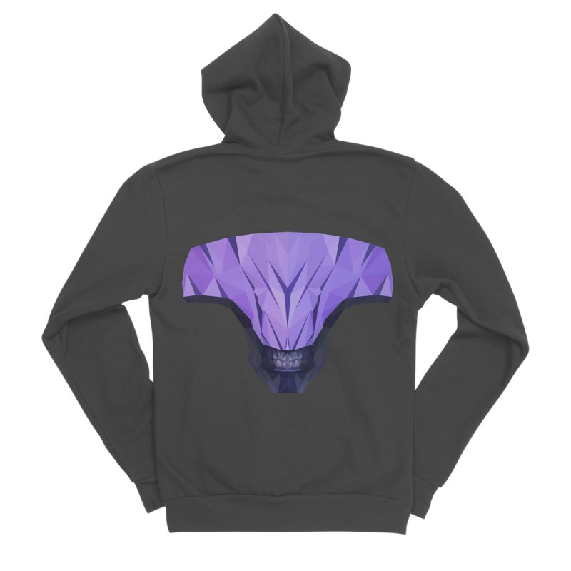 Low Poly Art - Faceless Void Women's Sponge Fleece Zip-Up Hoody by lowpolyart's Artist Shop