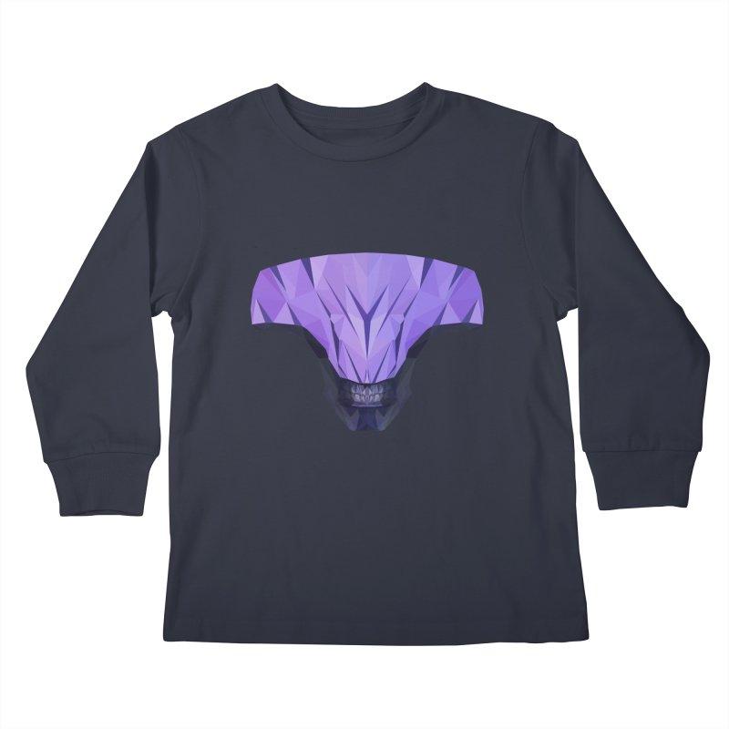 Low Poly Art - Faceless Void Kids Longsleeve T-Shirt by lowpolyart's Artist Shop