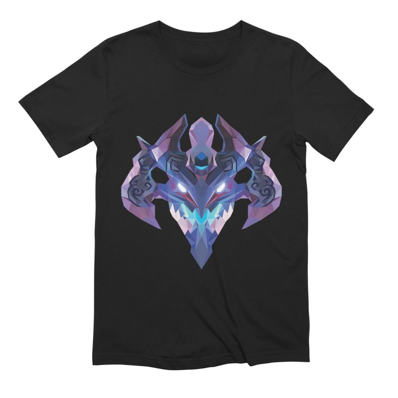 Low Poly Art - Visage in Men's Extra Soft T-Shirt Black by lowpolyart's Artist Shop