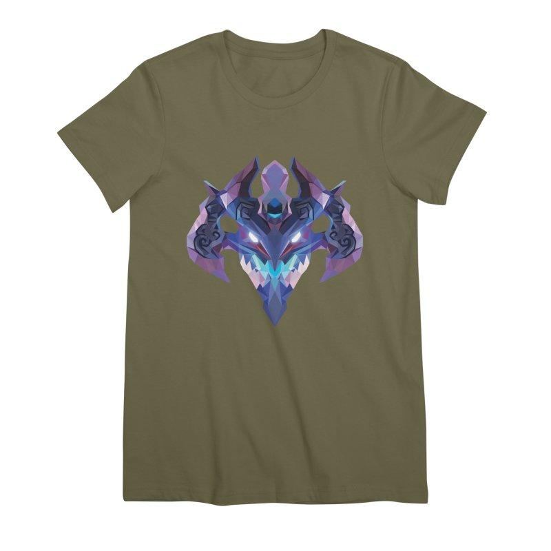 Low Poly Art - Visage Women's Premium T-Shirt by lowpolyart's Artist Shop