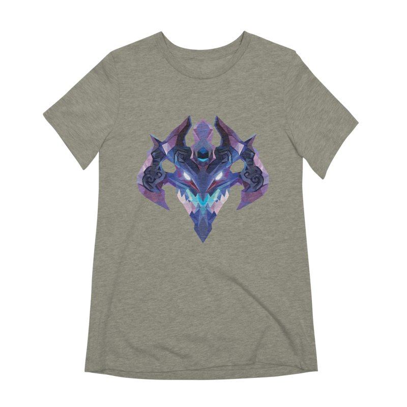 Low Poly Art - Visage Women's Extra Soft T-Shirt by lowpolyart's Artist Shop