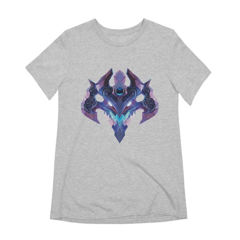 Low Poly Art - Visage Women's Extra Soft T-Shirt by lowpolyart's Artist Shop