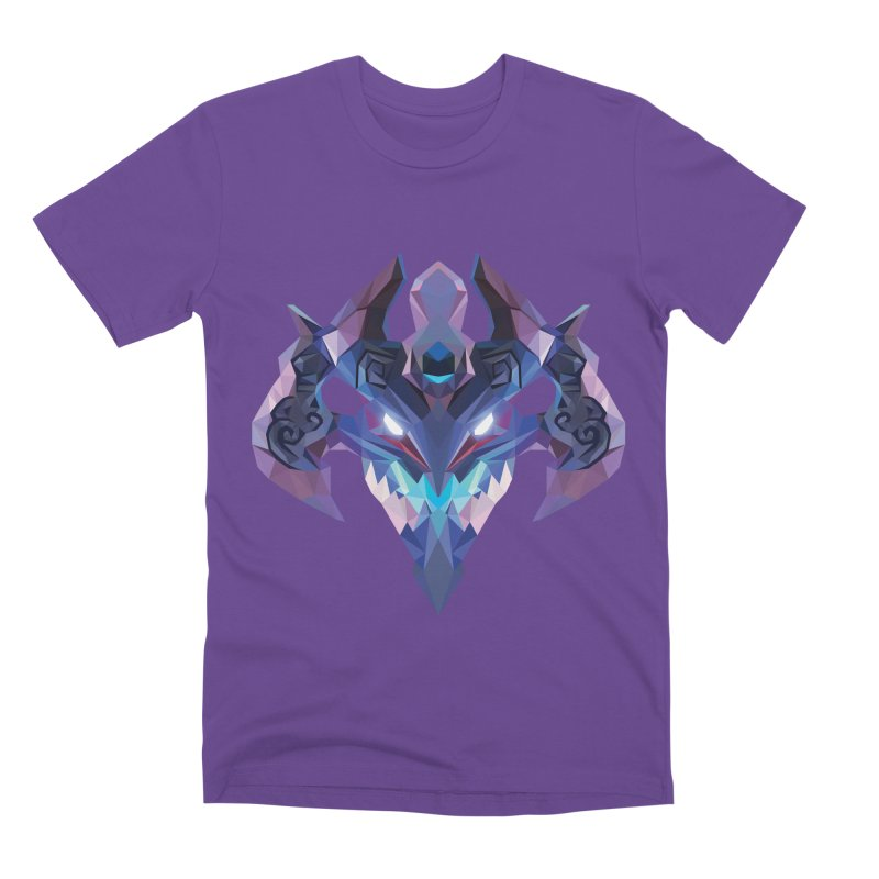 Low Poly Art - Visage Men's Premium T-Shirt by lowpolyart's Artist Shop
